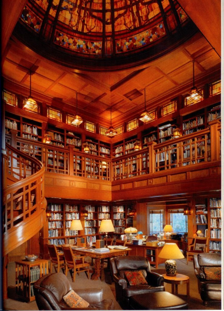 Supposedly, this is the extravagant home library of George Lucas. Imagine all the creativity caught between those walls!