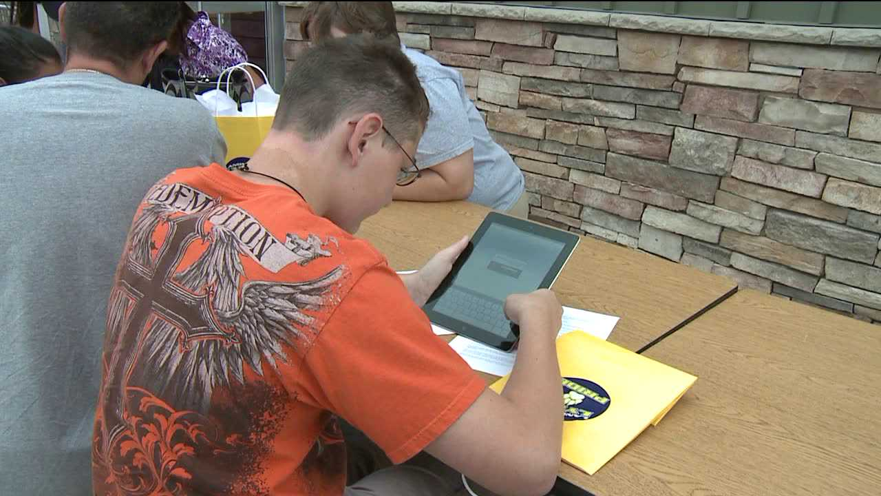 Students in Commerce City get iPads instead of textbooks. Aug. 9, 2012