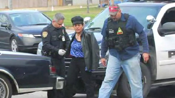 Police say Gail Castle, center, was on a test drive when she attempted to rob a northern California bank. (Photo: KTXL)