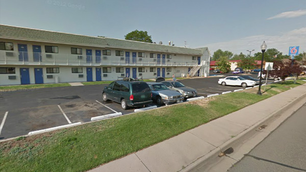 Police say a man was stabbed at this Wheat Ridge Motel 6 on April 1, 2013. (Photo: Google Earth)