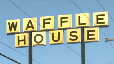 A would-be robber was shot early Monday when he tried to hold up an Atlanta-area Waffle House, the Atlanta Journal-Constitution reported.