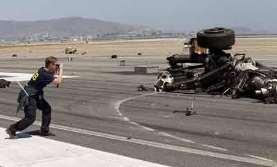 Investigator on San Francisco runway where Asiana Flight 214 crashed