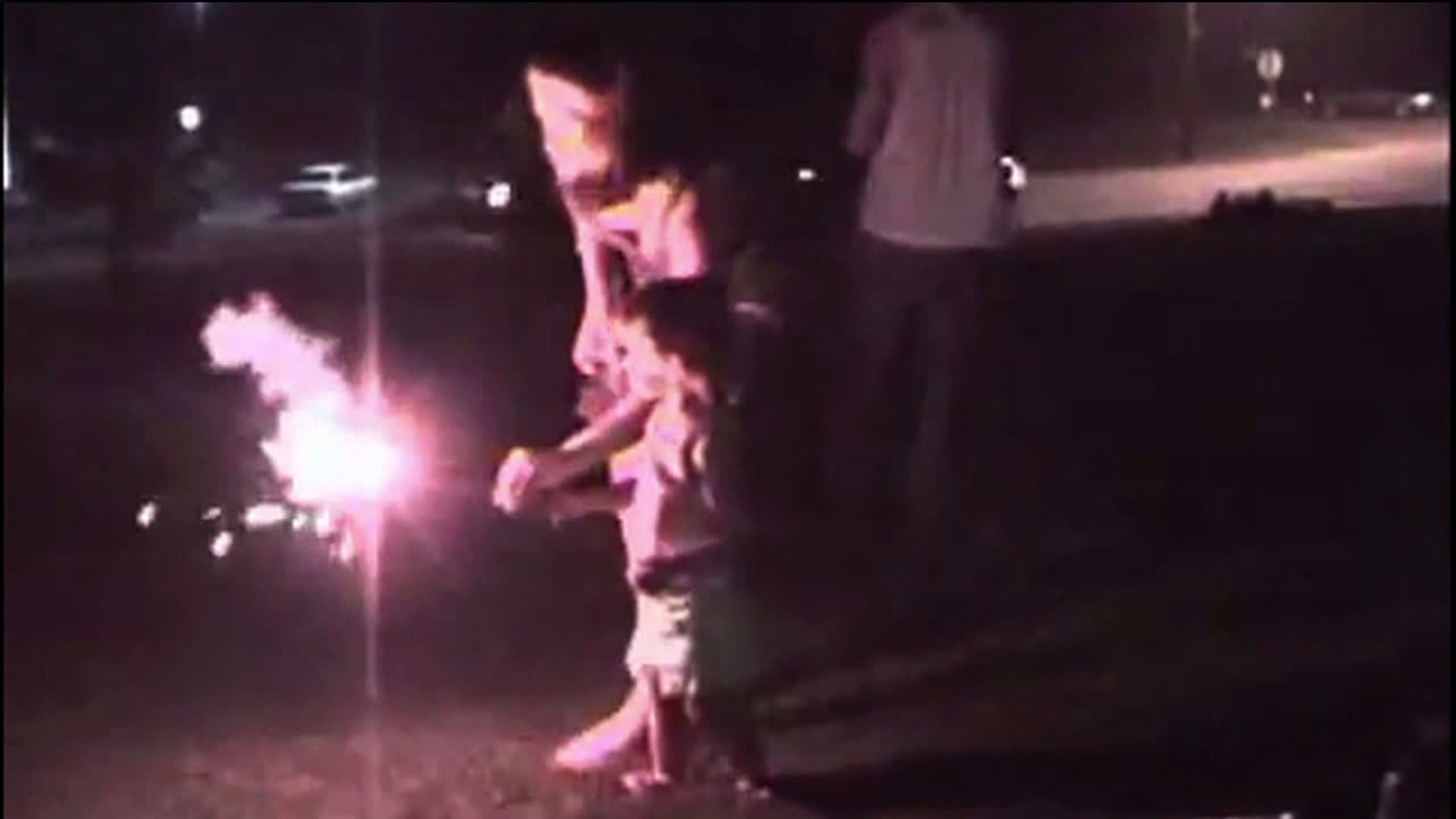 Child with a sparkler