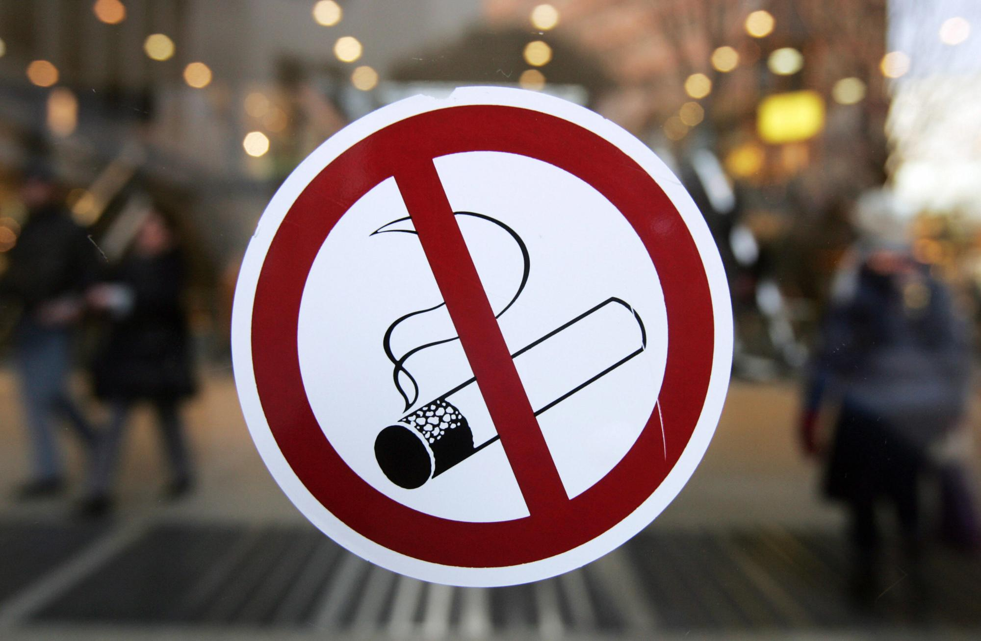No smoking sign. (Photo: JOHN MACDOUGALL/AFP/Getty Images)