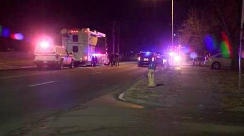 Officer-involved shooting scene at Galley Road and Arrawanna Street in Colorado Springs