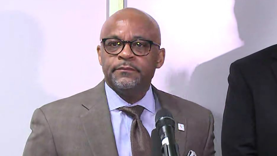 Denver Mayor Michael Hancock at a news conference about the city coronavirus response on March 9, 2020.