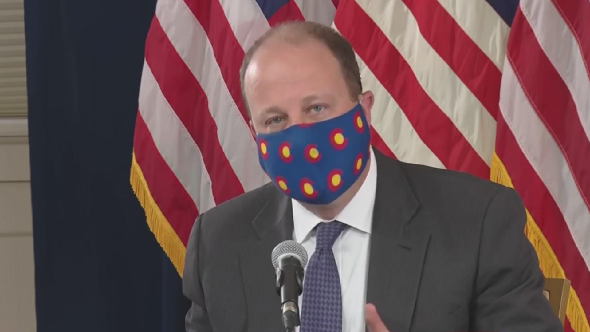 Gov. Polis announcing executive order requiring masks