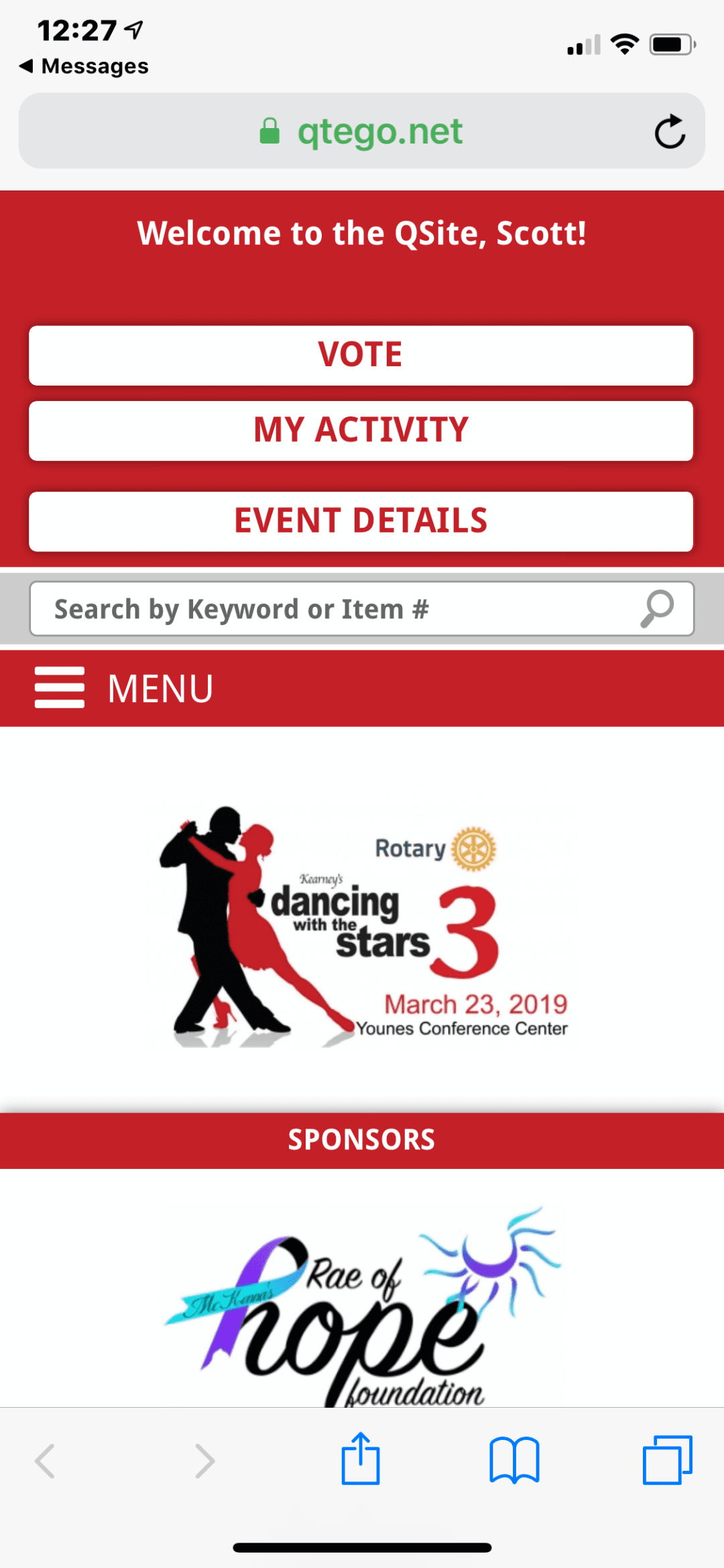 Qtego Auction Services & Kearney's Dancing with the Stars 3