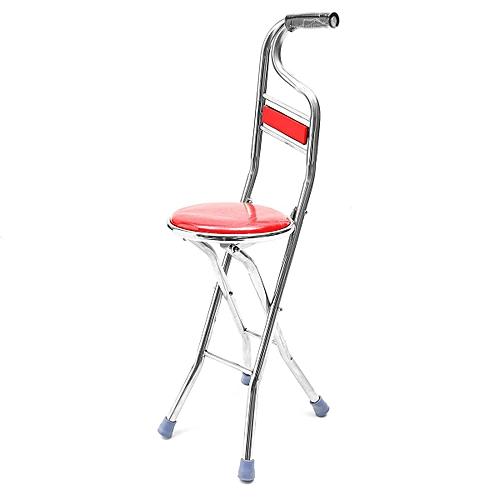 walking stick chair saddle or stool generic stainless steel portable folding seat travel cane red best price jumia kenya