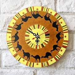 Rustic Kitchen Clock Hooks Buy Universal Vintage Retro Wood Slient Round Wall Shabby Chic Home Decor Camel