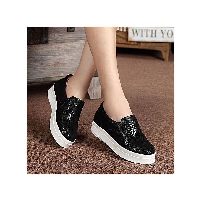 Non Slip Black Womens Shoes