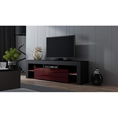 Living Room Tv Stand Sand Color Paint For Generic With Led Lighting System Up To 70 Inches Black Burgundy Best Price Jumia Kenya