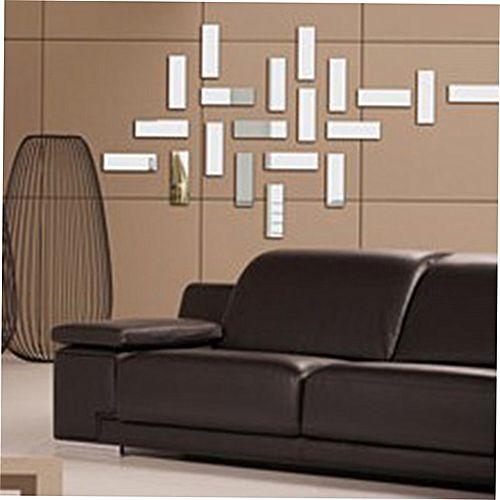 Square Mirror Wall Stickers Stereoscopic Wallpaper Room