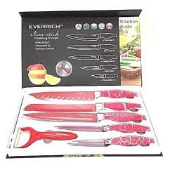 Red Kitchen Knife Set Lantern Pendants Buy Everrich 6 Pcs Sharp Knives With Non Stick Coating Finish And Bonus Of Ceramic Peeler