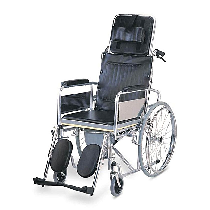 wheelchair jumia plastic outdoor chairs walmart elegant surgicals foldable commode reclining black