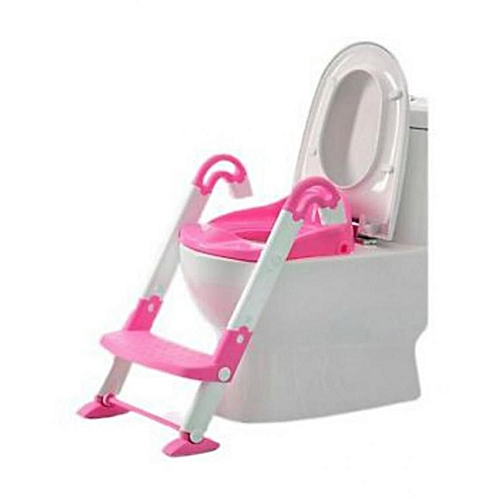 3 in 1 potty chair chrome dining chairs with casters sunpower kidskit training seat pink white