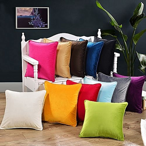 pillow covers for living room large furniture buy generic 18 simple style solid color throw case soft cushion cover sofa