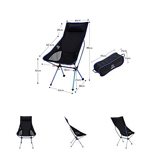 lightweight folding chairs hiking thomas the train table and chair set generic braveayong light weight portable outdoor for camping fishing db dark blue best price jumia kenya