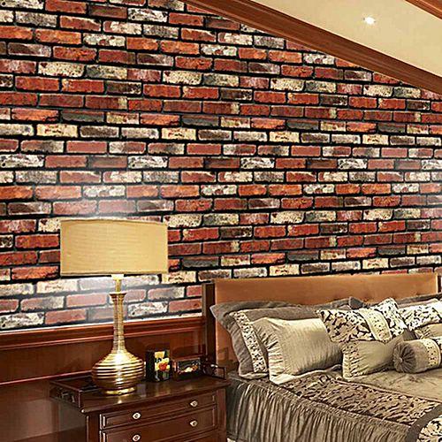 Brick Effect Tile Stickers Kitchen Bathroom Wall Wallpaper