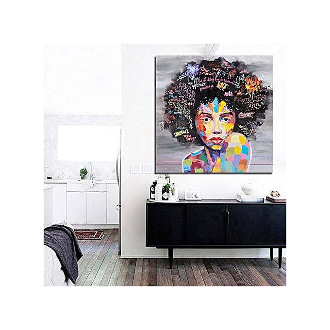 canvas prints for living room reclining chaise lounge chairs buy generic african woman wall oil painting art home decor