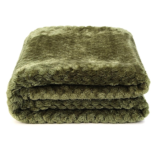 100 polyester sofa throws wynn bench cushion buy generic coral velvet super soft for rug blanket cover bed yoga bedding home army green best price jumia kenya