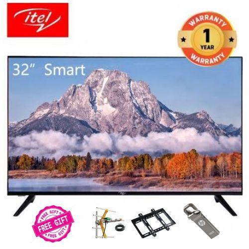 "I321,32"" Frameless Design Smart OS 9.0 LED TV + Free Mobi Gifts"