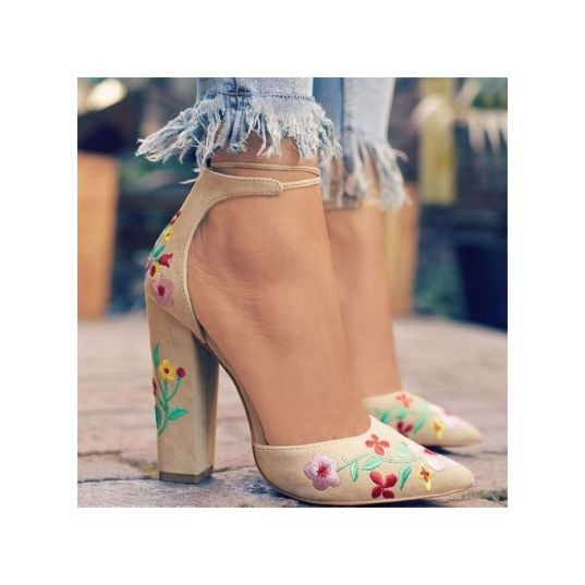 product_image_name-Generic-Flower Embroidery Grinding Rough-heeled Sandals-1