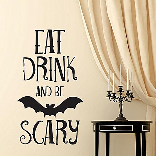 bat living room best paint color for small dark buy generic halloween pvc wall stickers bedroom decoration