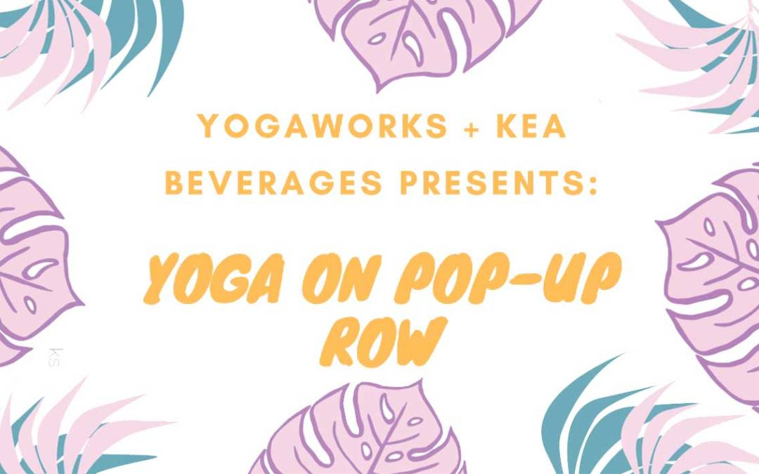 Donation Based Yoga on Pop-Up Row