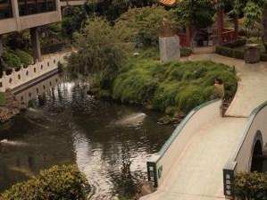 Honolulu International Airport Gardens - Girl on Bridge