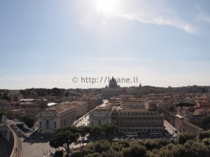 S. Peter's Basilica from Castel Sant'Angelo in Rome