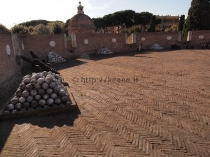 Canons at Castel Sant'Angelo in Rome