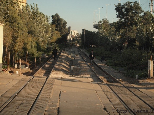 On the train tracks in Kunming