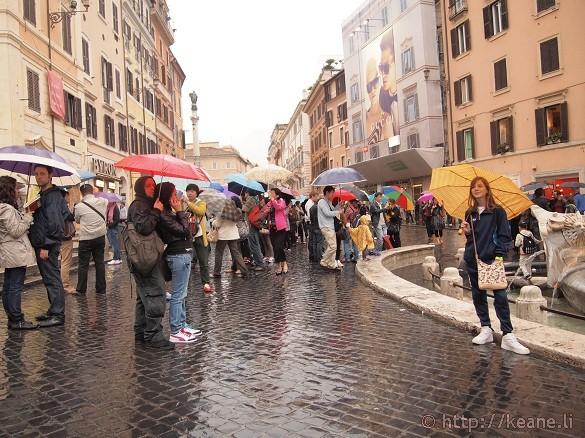 Piazza di Spagna in the Rain
