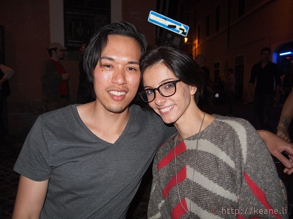 Keane and Valeria at Antilia in Trastevere