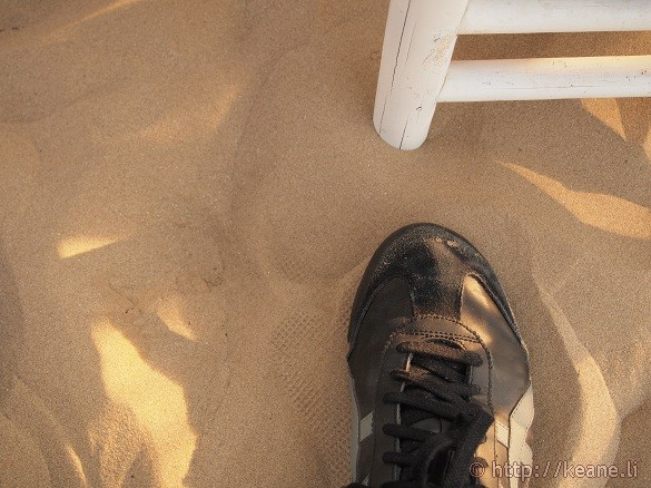 The sand along the Rimini beach