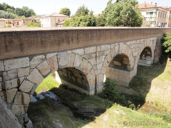 Crossing the Rubicon - Caesar's bridge in Savignano sul Rubicone