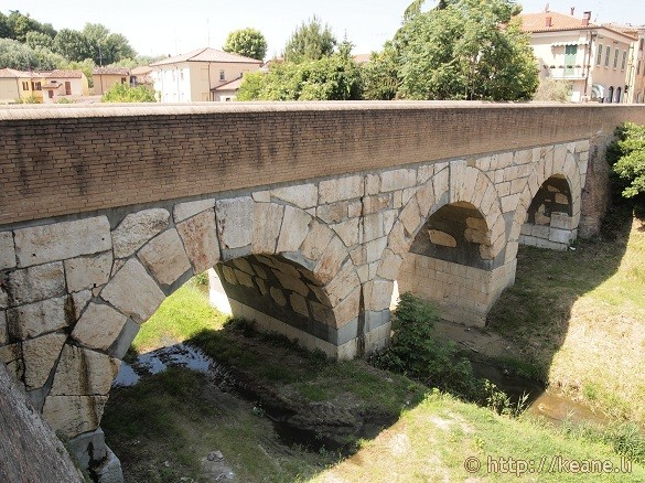 Crossing the Rubicon - Caesar's bridge in Savignano sul Rubicone