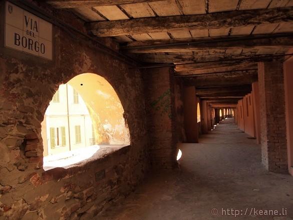 Via del Borgo - An indoor, elevated public street in Brisighella