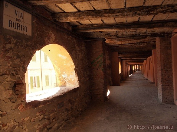 Via del Borgo - An indoor, elevated public street in Brisighella