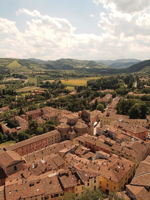 View of Brisighella from the Torre dell'Orologio - Hills and homes
