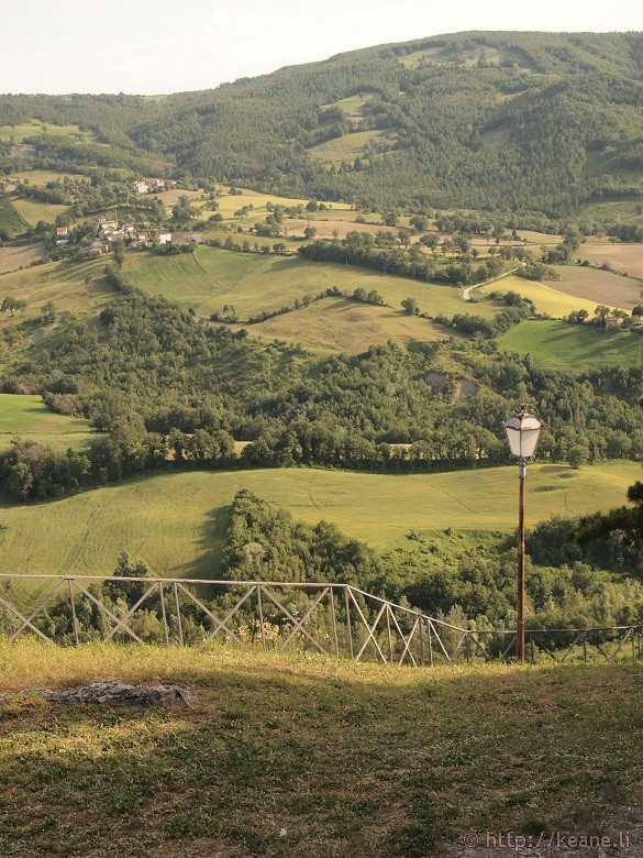Pennabilli - View from the top of the hill