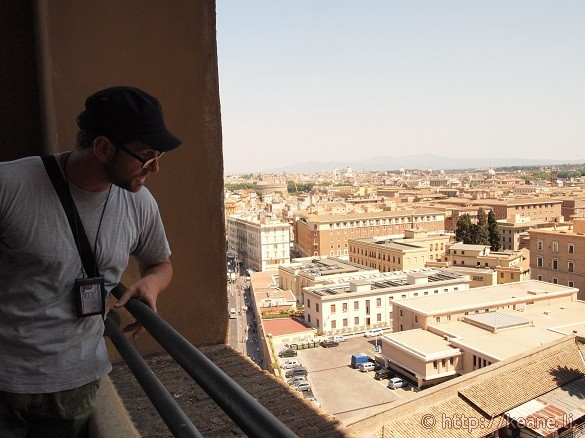View of Rome from the top of Bramante's Staircase