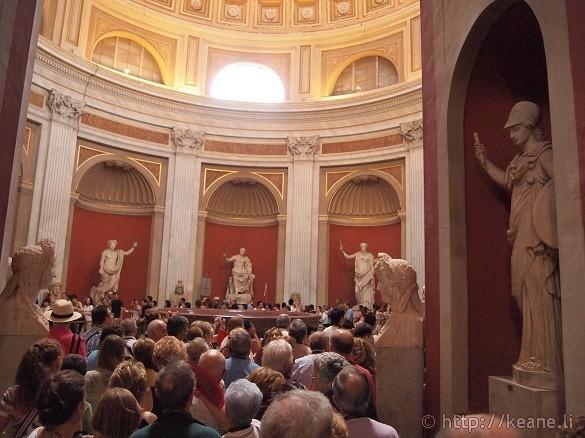 Circular room of gods in the Vatican Museums