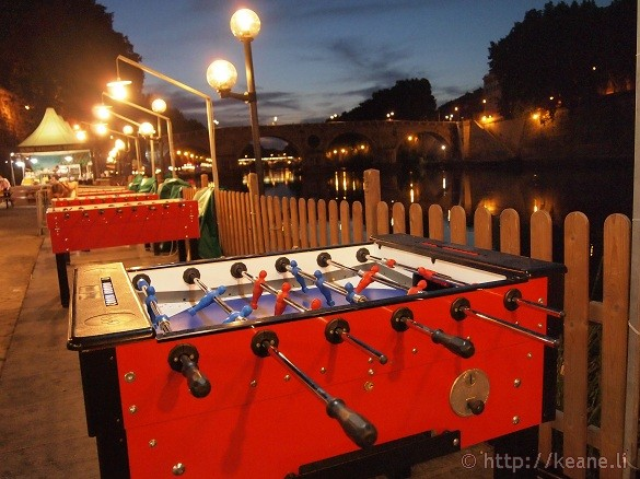 Summer Nights in Rome - Foosball along the Tevere