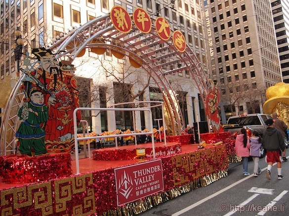 Thunder Valley Casino Chinese New Year parade float in San Francisco