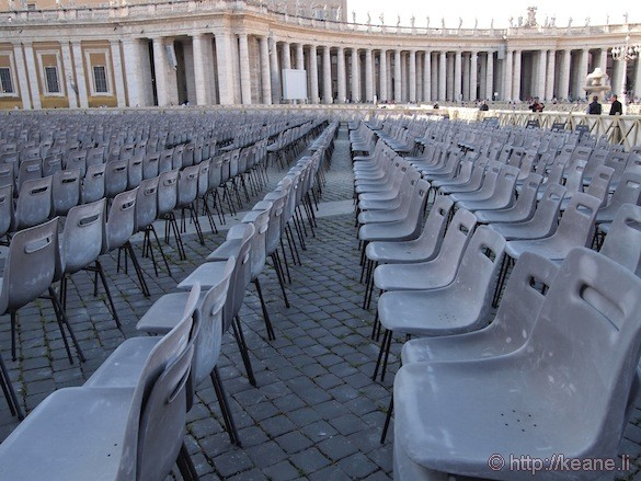 Vatican - Chairs lined up in St. Peter's Square