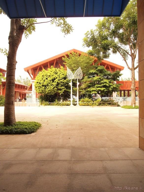 Sentosa Island in Singapore - Building near entrance