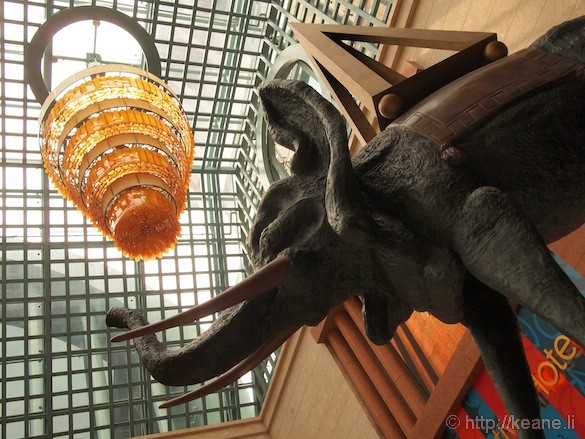 Sentosa Island in Singapore - Elephant statue in mall