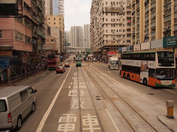 Riding the Historic Double Decker Tram in Hong Kong